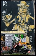 Cowboy (zweiblumen) Tags: cowboy streetart graffiti stokescroft bristol england uk canoneos50d canonef50mmf14usm polariser zweiblumen thepeoplesrepublicofstokescroft