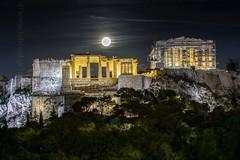   ternity (iatroud) Tags: iatroud nikon acropolis parthenon athens propylaia greece hypermoon supermoon fullmoon sights night moon sacred rock clouds eternity gold mankind hope moonrise