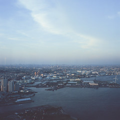 21770004 (redefined0307) Tags: zenzabronicas2 yokohama fujichrome provia400x landscape cityscape urban japan kanagawa skyline mediumformat film
