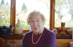Grandmother, last portrait (Koprek) Tags: fujica st 701 fujinon 55mm 18 kodak ektar 100 grandmother birthday