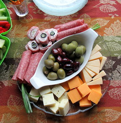 Meats and Cheeses (genesee_metcalfs) Tags: food thanksgiving cheese meat salami ham olives