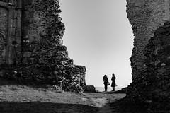 Seuls au monde (Meculda) Tags: ruine vestige château monochrome noiretblanc yvelines france paysage couple personne