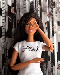 A-Z Doll Photography Challenge: V - vertical lines (sadeyeddoll) Tags: barbie madetomove holidaybarbie2016 rebodied doll collage magazine verticallines vertigo