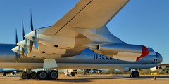 USAF Convair B-36J Peacemaker nuclear bomber - Pima Air & Space Museum, Tucson, Arizona. (edk7) Tags: nikond3200 edk7 2013 us usa arizona pimacounty tucson arizonaaerospacefoundation pimaairspacemuseum unitedstatesairforce usaf strategicaircommandsac194959 generaldynamicscorp convairdivision convairb36jpeacemaker sn522827 1955 highaltitude longrange intercontinental strategic nuclear bomber aircraft plane airplane aviation jet piston military pusher cityofftworth sixpistonengine fourjetengine prattwhitneyr436053waspmajor28cylinder4rowradial3800hp generalelectricj47ge19turbojet5200lbf