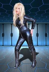 Barbarella (Irene Nyman) Tags: catsuit boots bondage irene nyman space prostitute barbarella shiny pvc tgirl holland esa highheeled