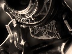 Looking Back in Time (dawn_macroart) Tags: vintage camera ensignselfx bw lighting arty