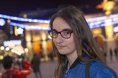 Saray (sal249529) (Miguel Ángel 13) Tags: retrato portrait chica girl avilés asturias flashintegrado flash nikon lucesnavideñas feliznavidad navidad christmaslights chritsmas