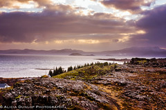 After the Storm (An Old Pup) Tags: sunset landscape ingvellir national park lake sky weather geological iceland nationalpark unesco