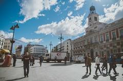 Puerta del Sol  Madrid (Luigi Pica) Tags: madrid street inspiration flower sol del vintage puerta bokeh style starbucks tumblr