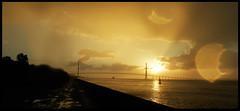 Pont de Normandie (o.penet) Tags: de soleil coucher honfleur pontdenormandiemanoeuvresaccostagenaviresbritaniabeaver