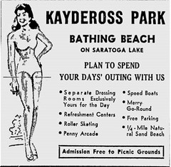 Ad for Kaydeross park  1940s   saratoga  lake  favorite albany ny  day trip 1940s (albany group archive) Tags: kaydeross park 1940s saratoga lake favorite albany ny day trip oldalbany history