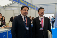 47th Annual Meeting - President's Registration and Walkabout (Asian Development Bank) Tags: corporate lobby staff governor reception leaders kazakhstan registration professionals participants executives representatives annualmeeting takehikonakao adbpresident erbolatdossaev