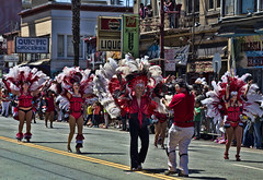 Samba Gals 1 (deepchi1) Tags: sanfrancisco california samba dancers parade bayarea mission carnaval missiondistrict stilts