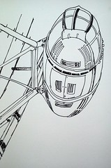 London Eye. Gel pen (homephoenix) Tags: london art lines architecture illustration sketch artist drawing perspective structures londoneye sketchbook lookingup attractions penandink pleinart