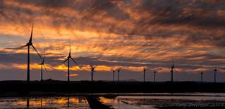 Wind Turbines at Sunset...