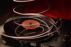 Vibes (PentagramPrincess) Tags: original light lightpainting vintage painting vinyl recordplayer noedit beatles uploaded:by=flickrmobile flickriosapp:filter=nofilter