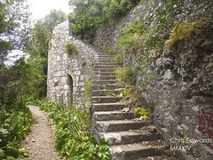 Spanish Double-Helix Staircase (Chris Edwards 1999) Tags: old greatbritain heritage history beautiful lines magazine britain gib great rich battery culture queens kings jungle proof princes northern bomb fortifications gibraltar 205 the bombproof llanito yanito