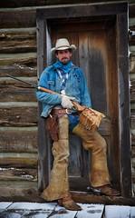 "Cowboy Joel (blackhawk32) Tags: horse cowboy wranglers western wyoming cowgirl hideout lodge"" ""hideout"
