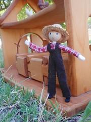 Miniature farmer doll Wildflower Innocence 1 (wildflowertoys) Tags: woodentoys dollhousedolls toybarn bendydoll naturaltoys waldorftoys elvesandangels dollhousefamily toystable wildflowerinnocence