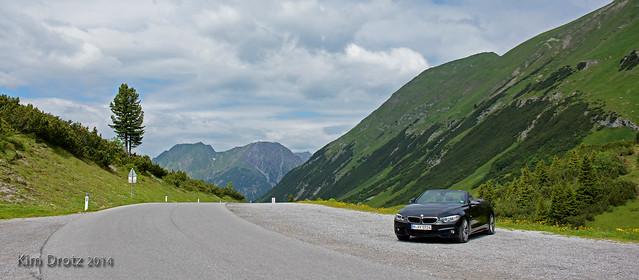 mountain alps classic car austria österreich rally convertible bmw cabriolet 2014 428 arlberg