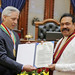 President Receives Award for Contributions to Peace and Democracy