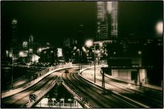 Sin City :: HK (w_oll_e) Tags: china bw hongkong highway taxi kowloon victoriabay