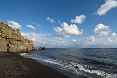 Asino beach (Andrea Rapisarda) Tags: sea italy seascape beach clouds nikon italia nuvole mare ngc sicily sicilia vulcano eolie nationalgeographic d800 allrightsreserved wideangleview nikon1424mm spiaggiadellasino