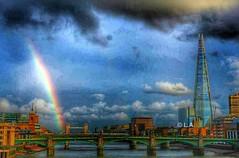 London in High-dynamic-range  L.A. (laetitiaarnold) Tags: city bridge england london colors londonbridge rainbow united kingdom shard hdr highdynamicrange