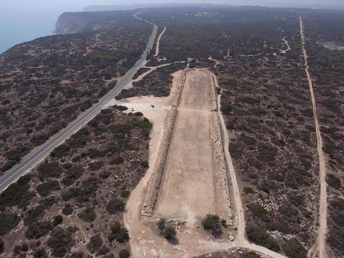 Stadium of Kourion, Cyprus. Kite aerial photography