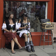 Time Out (lightfran) Tags: costumes sea summer england fun costume seaside pirates dressingup pirate theme hastings fancydress pirateday eastsusses hastingspirateday pirateday2014 hastingspirateday2014