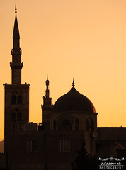 Umayyad Mosque |   (me | g ) Tags: new old travel sunset sky bw sun white black history love church nature june museum photography hope photo asia flickr heaven day shot antique citadel jasmine tag ngc may picture samsung wb mosque national photograph syria damascus geographic masterpiece syrian  fairouz   umayyad  rootage         qasioun
