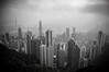 Hong Kong (I am Smog) Tags: urban bw buildings hongkong nikon asia victoriapeak travelerphotos