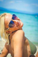M&M beach 2014 (nemanjas.rs) Tags: summer sun hot cute sexy beach girl beautiful beauty glasses sand gorgeous greece blond swimsuit polichrono nemanjas