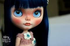 Pelaya (Isa Mira) Tags: blue cute hair doll ooak carving sakura blythe custom pure takara tomi sbl neemo petronitas cancancat dafnery dafnerydolls