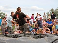 Mud Wrestling _ 093 (carols snapshots) Tags: uk wet water fun mud somerset familyfun mudwrestling fancydress dogracing riverrafting langport mudfight wetclothes thorney wifecarrying canoneos700d riverknockout lowlandgames2014