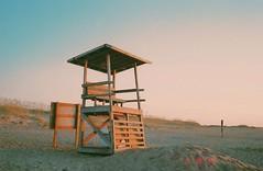 hut (chrstntdd) Tags: ocean wood sky film beach water analog 35mm nc sand kodak north hatteras carolina stylus date quartz epic olmpus vsco vscocam
