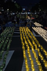 (Giopuppy) Tags: bon summer people lamp festival night paper lights dance nikon colorful candle afternoon estate traditional bamboo persone agosto yukata  kimono shimane taiko  matsuri giappone giapponese odori  izumo candele  2014 bonodori           shinwa       nikond3100  d3100 shinwamatsuri