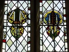 Medieval Fragments, Welford on Avon (Aidan McRae Thomson) Tags: church window stainedglass medieval warwickshire fragments welfordonavon