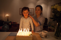 (Alan Wentworth) Tags: birthday 3 home candles maya daughter birthdaycake wife 1941 threeyearsold yoshimi