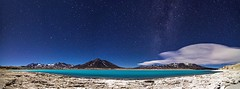 Laguna Verde, Chile (Gabriela Iacobuta) Tags: chile blue cloud mountain lake snow verde water night stars ngc salt salty andes laguna salar milkyway lagunaverde 5photosaday travelplanet lpindigo2016