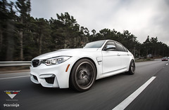 Alpine White F80 M3 featuring Gloss Shadow Brushed VSR-163 (Vorsteiner) Tags: white car sport race sedan aluminum ninja wheels glacier alpine bmw m3 coupe m4 forged brushed vsr163