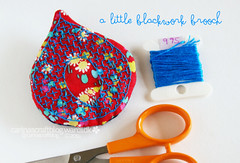 Little Blackwork Brooch (Carina » Polka & Bloom) Tags: embroidery brooch blackwork
