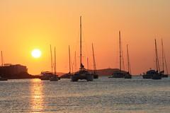 Ibiza's Sunset (Black_ Soul) Tags: family sunset sea sun holiday beautiful landscape spain tramonto mare famiglia barche ibiza padres land eivissa sole vacaciones vacanza spagna santantonio
