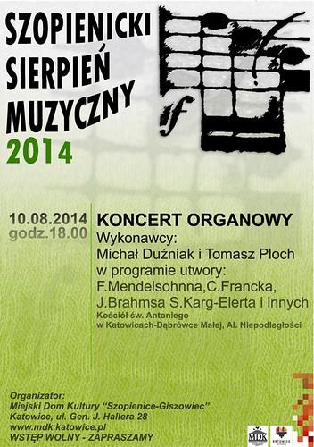 """Koncert organowy w ramach """"Szopienickiego Sierpnia Muzycznego 2014"""""""