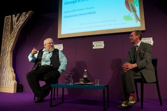 George R R Martin talks to Stewart Kelly at the Edinburgh International Book Festival