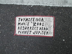 Toynbee Tile on 56th Street near 5th Avenue 6859 (Brechtbug) Tags: street new york 2001 city nyc by tile dead found idea near manhattan severino midtown made tiles planet jupiter kubricks avenue 5th toynbee named verna crumbling sevy possibly 2014 reclusive resurrect 56th philadelphian 08312014