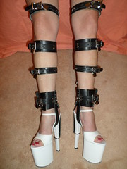 Black Leather Locking Shoe Braces (KAFOmaker) Tags: sexy leather sex shoe chains high shoes braces lock leg bondage chain strap heels heel cuff tight bound buckle locked brace straps sandal cuffs buckles locking restraints bracing restraint restrain cuffed strapped braced strapping tightly