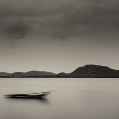 Kolavai Lake (bmahesh) Tags: longexposure blackandwhite india lake canon boat nd canon5d toned mahesh tamilnadu hoya waterscape cwc canonef24105mmf4isusm chengalpet canoneos5dmarkii chennaiweekendclickers maheshphotography kolavailake bmahesh wwwmaheshbcom cwc372