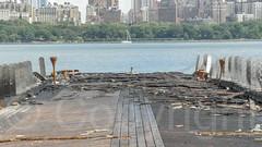 Burnt 45 River Road Pier on the Hudson River, Edgewater, New Jersey (jag9889) Tags: usa river pier newjersey unitedstates unitedstatesofamerica nj pedestrian hudsonriver edgewater waterway gardenstate 2014 northriver bergencounty 07020 zip07020 jag9889