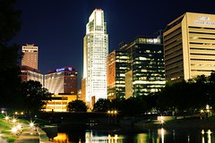 Downtown Omaha (Danny C00l) Tags: city skyline night downtown omaha nebrasca